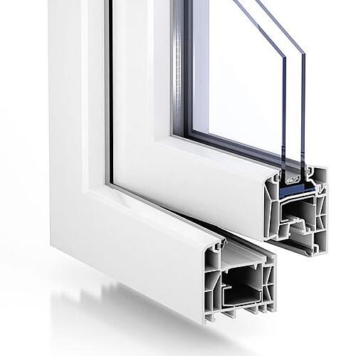 Kunststoff Fenster Breite 1400 mm Kipp mit 2 oder 3fach Glas 1 Flügel